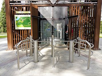 icon of half height turnstile