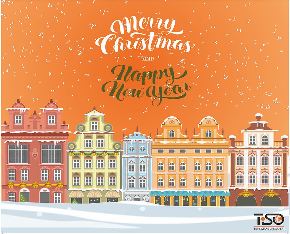 Frohe Weihnachten Und Happy New Year.Frohe Weihnachten Und Ein Glückliches Neues Jahr Tiso