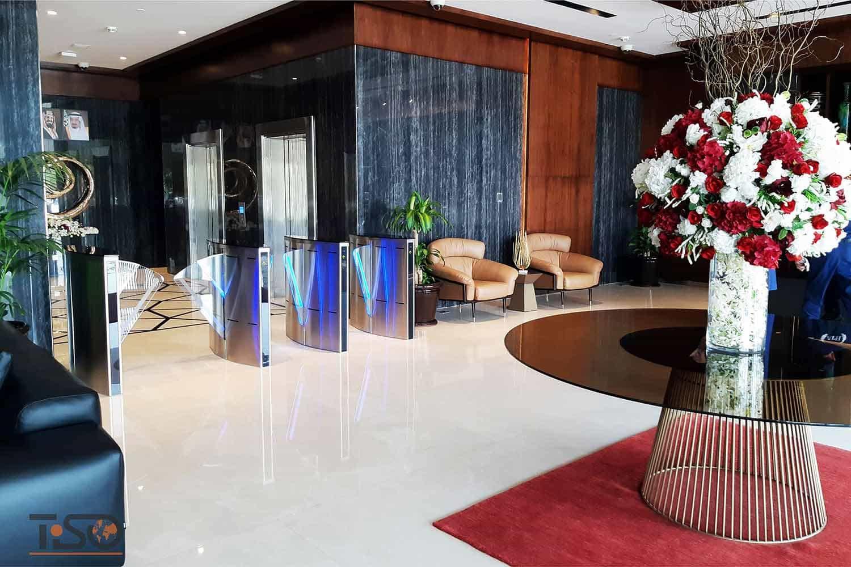 Speedblade (ancho de paso 500 mm y 900 mm), centro de oficinas, Riad, Arabia Saudita