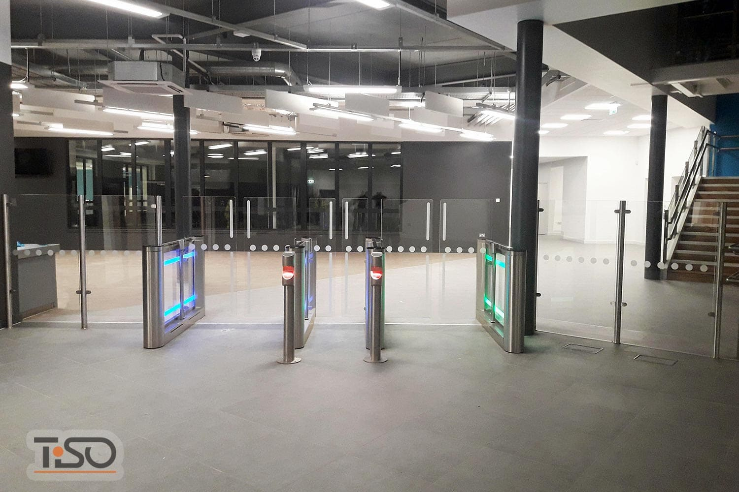 Sweeper-HG (customized width 1200 mm) and Glass enclosures, Andersonstown leisure centre, Belfast, Northern Ireland