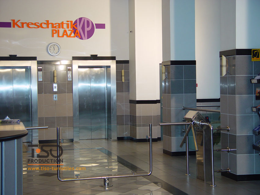 Tripod turnstiles, Business centre «Kreschatik Plaza», Ukraine