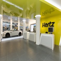 Hertz Rent-a-Car in airport