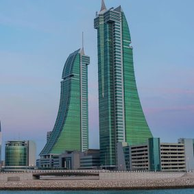 Oficina de Arab Finance Services en Bahrein Financial Harbour