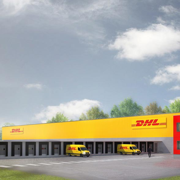 DHL, Halle, Germania