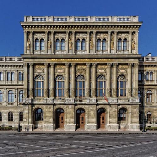 La academia húngara de ciencias, Budapest, Hungría