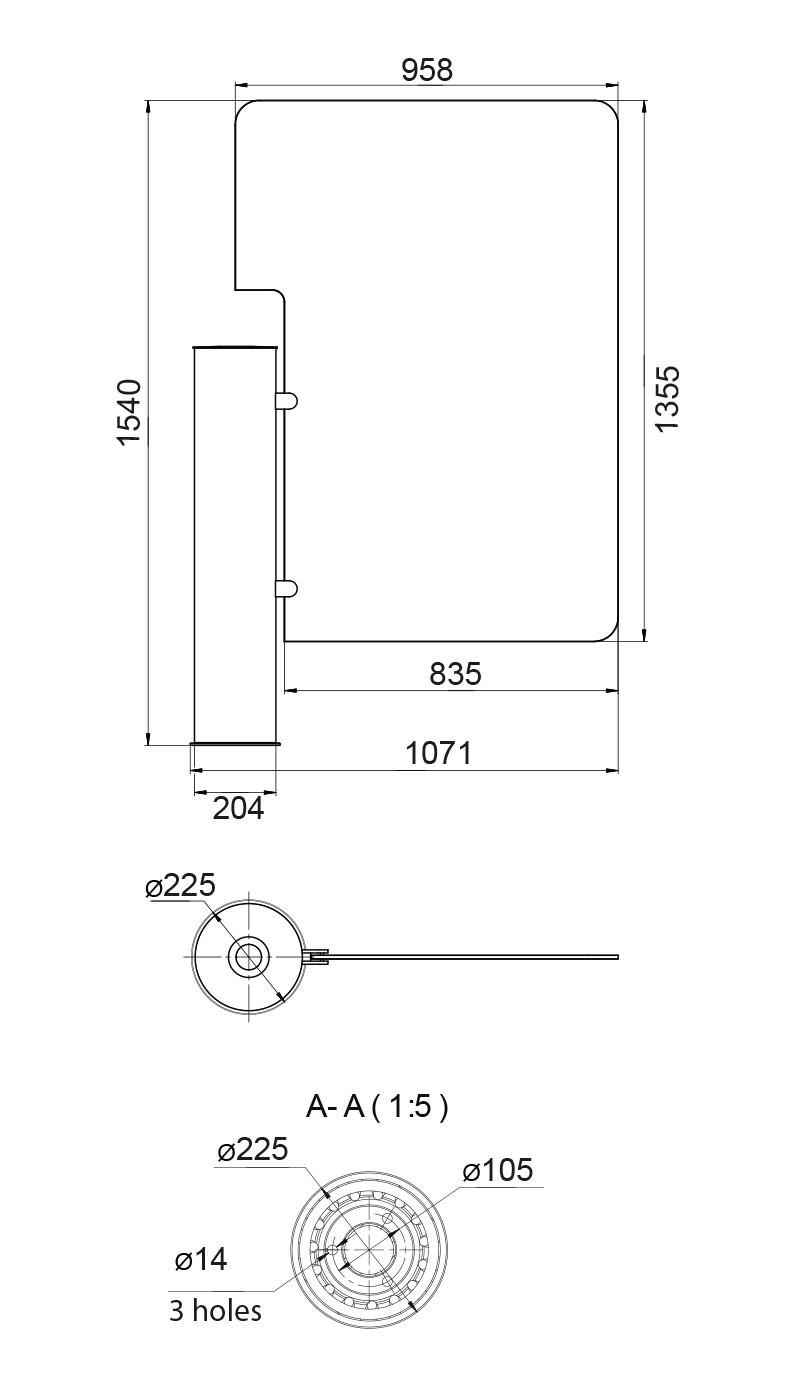 رسم زجاج عالى Gate-GS (للمعاقين)