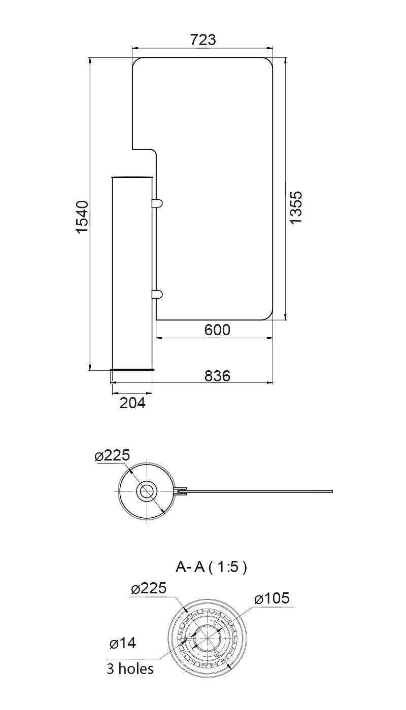 رسم من زجاج Gate-GS العالي