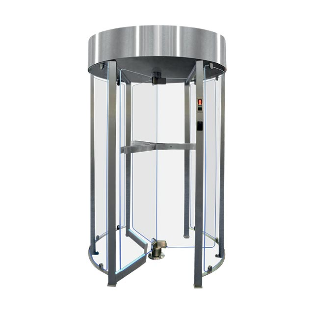 Glass turnstile of european manufacturing tiso